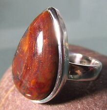 Sterling silver cabochon Pietersite chunky ring UK L/US 6