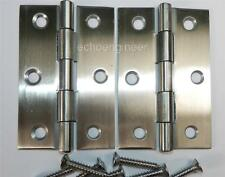 """PAIR of 3"""" / 75mm  STAINLESS STEEL BUTT HINGES"""