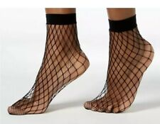 I.N.C. Women's Fishnet Ankle Socks Black - International Concepts- One Size