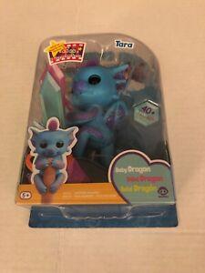 Fingerlings Baby Dragon TARA WowWee Blue/Purple Brand New!