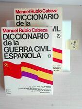 DICCIONARIO DE LA GUERRA CIVIL ESPAÑOLA (2 TOMOS) MANUEL RUBIO CABEZA