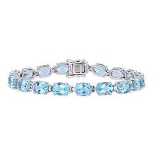 Amour Sterling Silver Sky-Blue Topaz Tennis Bracelet