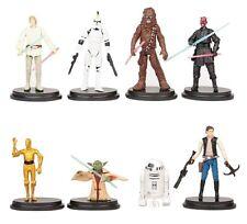 Star Wars Yoda Luke Hans Playset 8 Figure Cake Topper * USA SELLER* Toy Doll Set