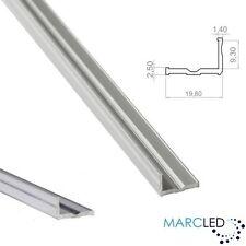 L2 aluminium l-shape heat sink (profile) for LED strips, anodized silver, 1m