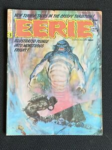 Eerie Magazine #3 May 1966- Frank Frazetta cover-Warren Publishing