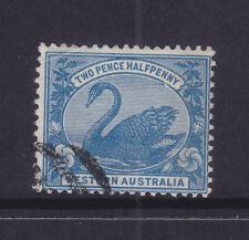 WESTERN AUSTRALIA  2 1/2d BLUE  SWAN  CTO WITH GUM????