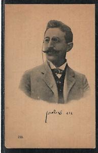 David Frischmann - Jewish Judaica writer photo postcard - דוד פרישמן