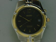 NEW SEIKO SNQ068 MEN'S PERPETUAL CALENDAR TWO - TONE STAINLESS STEEL WATCH