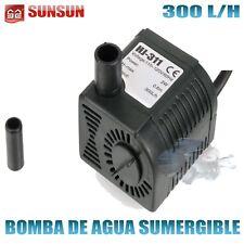 Bomba sumergible de 200l/h - 2w. Sunsun Hj-211 con caudal regulable para acuario