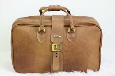 """Vintage Invicta leather carry-on luggage - Brown - Capacity: 21"""" x 7"""" x 7"""""""