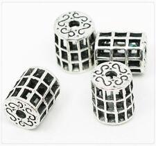 10x Metall Perlen Spacer Zwischenteil für Schmuck DIY silber 13x11,5mm ms178
