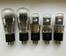 LOT OF 15 TESTED VACUUM TUBES- TYPE 45, TYPE 24, CUNNINGHAM, PHILCO, RAYTHEON