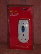 13amp White RCD Adaptor Plug in Safety Trip Switch Socket Circuit Breaker Focus