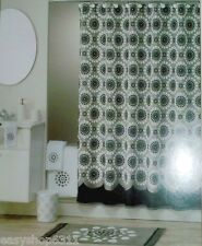EMBELLISHED FABRIC SHOWER CURTAIN BY ALLURE SIZE 70in X 71in  NEW IN BAG