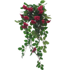 Quality Artificial / Silk Flowers Trailing  Mini Rose Plant Hot Pink  60cm long