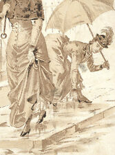 SALEM, MA TRADE CARD,  COLCHESTER RUBBER CO,  LADY SPYING ON OTHER LADY  TC2237