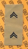 US Army Enlisted CORPORAL CPL E-4 Desert DCU rank patch set