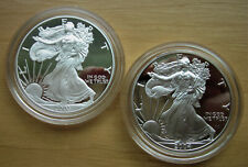 """2003 and 2004 American Silver Eagles in Proof; """"W"""" mintmark"""