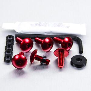 Screws Kit Fairing Aluminum Ducati Monster S2R 1000 05-07 Red