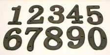 USA SELLER  Cast Iron House Address Numbers 0-9  Rustic Brown Priced Each