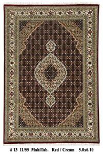 Hi Quality Handmade 5' x 7' Black Fish Mahi Pattern Wool & Silk 5' x 7' Rug