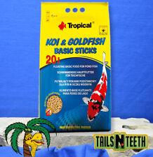 Tropical Koi & Goldfish Basic Sticks 1.6kg ~ Basic Food for Pond Fish