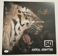 50 Cent Signed ANIMAL AMBITION 12.5x12.5 Poster Lithograph Autograph JSA COA