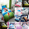 KIDS CHILDRENS DUVET SETS & FITTED SHEET UNICORNS SPACE PRINCESS FOOTBALL NEW
