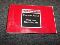 kenworth t660 operators manual