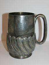 Antique Collectable Atkin Brothers Silver Plated Beer Tankard / Mug