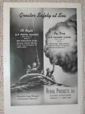 MILITARY PYROTECHNICS PISTOL ROCKET LIFE RAFT 1943 ADS