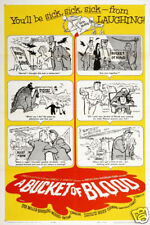 Bucket of blood vintage comedy movie poster print