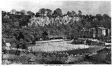 Matlock New Bath Hotel Tennis Courts unused RP old postcard Trust Houses Ltd