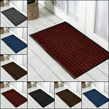 Heavy Duty Rubber Barrier Doormat Non Slip Welcome Mats Indoor Outdoor Doormats
