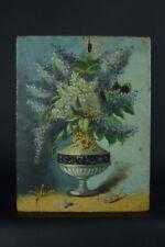 Charmant tableau Bouquet de fleurs Napoleon 3 signé 1er Avril still life