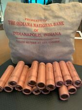 Lot of 2, 1964 D Lincoln Cent Original Bank Wrap Roll Rare Year Obw Unc Bu Penny