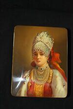 "Russian Lacquer Box ""Boyaryshnya"" By Galina Dubovikpva Fedoskino Village"