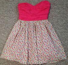 BETSEY JOHNSON Vintage Spring Flower Print Mesh Tulle Tutu Skirt Bustier Dress M