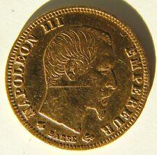 Pièce 5 Francs Or Napoléon tête nue 1859 BB
