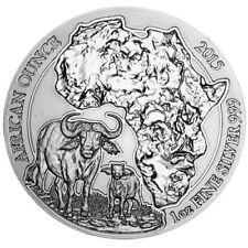 2015 Rwanda CAPE BUFFALO 1 oz Silver Mint Sealed African Wildlife Bullion Coin