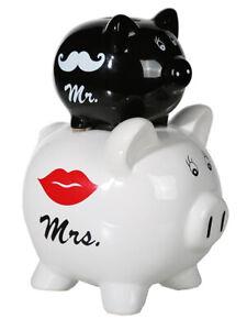 Sparschwein Hochzeit Doppelsparschwein Mr - Mrs - witzig! Scherz alles ihr Geld