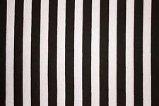 Black White 3/4 Stripe Jersey Knit Print #65 Poly Rayon Spandex Lycra Fabric BTY
