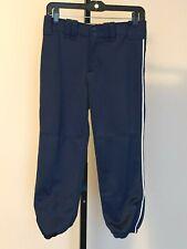 Womens Mizuno Navy Performance Softball Pants sz Small White Stripe