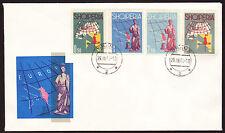 Albanien 683-86 FDC, Europa-CEPT-Ausgabe 1962