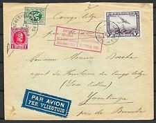 Belgium covers 1930 OBP LP5 Airmailcover to Bumba
