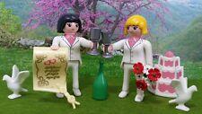 PLAYMOBIL ADULTE COUPLE PRIDE LESBIENNE GATEAU MARIAGE POUR TOUS LESBIAN HOMO