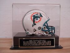 Display Case For Your Joe Namath Jets Signed Football Mini Helmet
