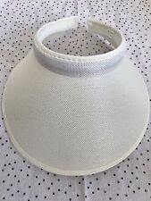 Women Lady Fashion Large Clip On Visor Wide Brim Sun UV Protection Cap -WHITE