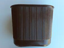 Vintage Rubbermaid 2954 Brown Ribbed Plastic Trash Can garbage wastebasket Oval