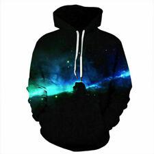 Men Women's Hoodie Galaxy 3D Print Sweater Sweatshirt Jacket Coat Pullover Tops